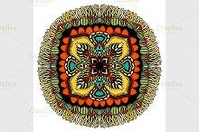 Ornate eastern mandala