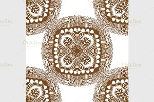 seamless pattern with mandalas