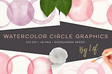 Painted Circles Graphics Watercolor