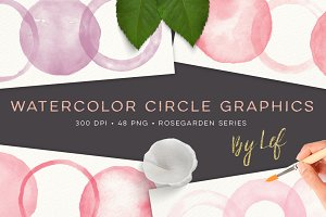 Painted Circles Graphics Watercolor