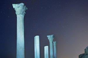 Ruins of ancient city columns