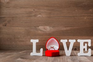 Engagement ring, love symbol.