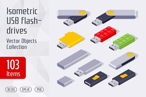 Isometric USB Flash Drives