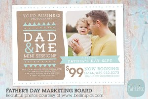 IF017 Father's Day Marketing Board