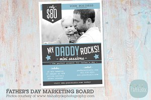 IF012 Father's Day Marketing Board