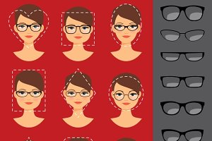 Glasses shapes for different faces