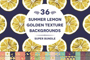 36 Summer Lemon Golden Backgrounds