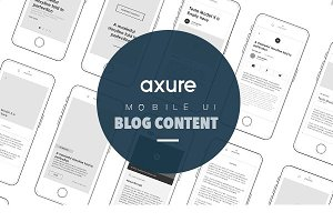 Axure Mobile UI for blog article