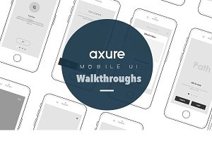Axure Mobile UI for walkthroughs
