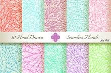 10 Ornate Seamless Florals. Set #6