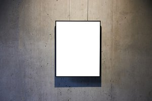 Empty white isolated frame