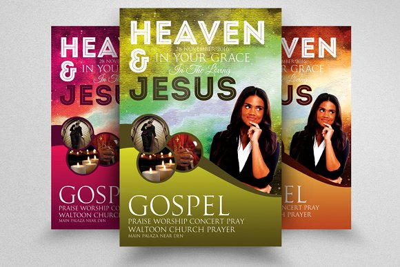 woman of god church flyer flyer templates creative market