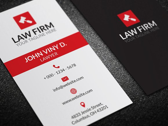 Law business card business card templates creative market reheart Choice Image