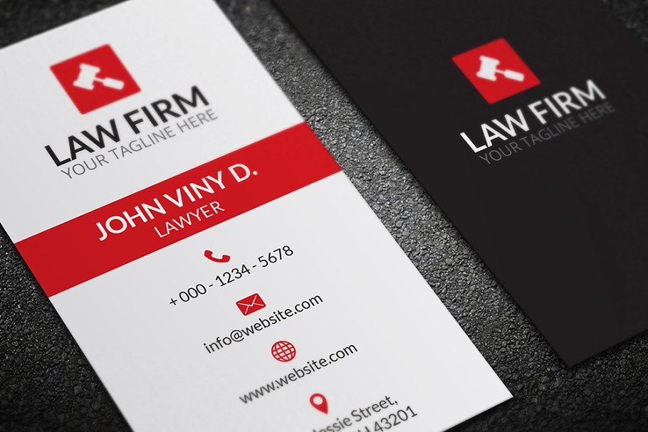 Law Business Card - Business Card Templates | Creative Market Pro