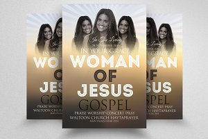 Woman of God Church Flyer