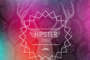 Colorful Hipster blurred background