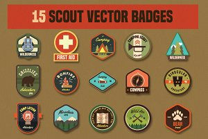 15 Scout Vector Badges icon