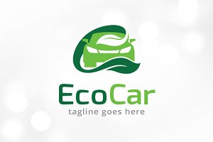 Eco Car Logo Template
