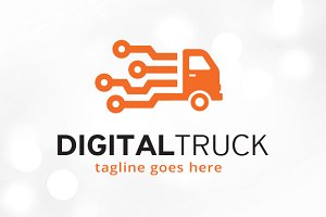 Digital Truck Logo Template
