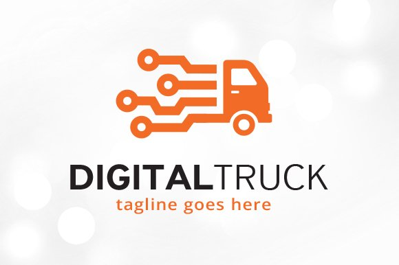 digital truck logo template logo templates creative market