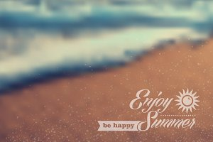 Summer beach vintage background
