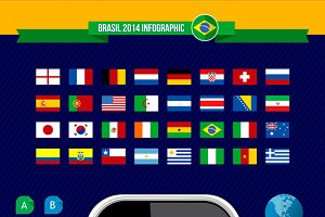 Hand with Brazil soccer app