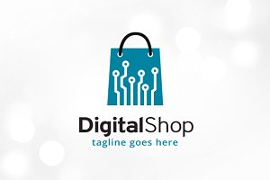 Digital Shop Logo Template