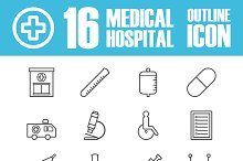 hospital outline icon