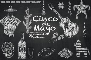 Cinco de Mayo - chalkboard set