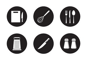 Kitchenware icons. Vector