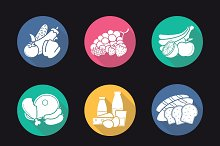 Food categories icons. Vector
