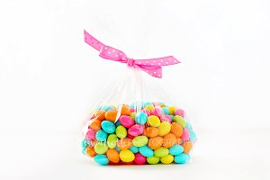 Bag of Pretty Jelly Beans - Pink Bow