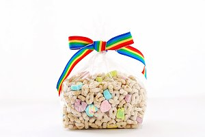 Lucky Cereal with Rainbow Bow