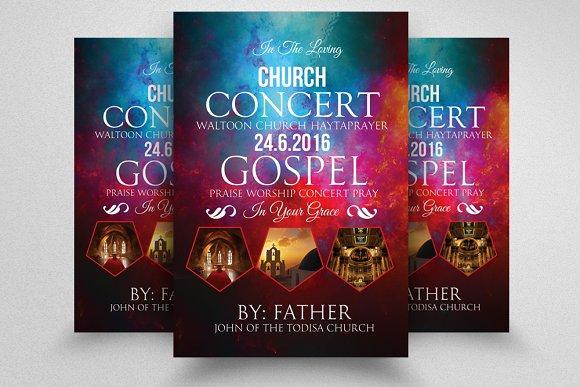 Jesus Church Concert Flyer