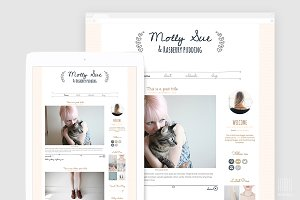 Chic WordPress Blog Template - Molly