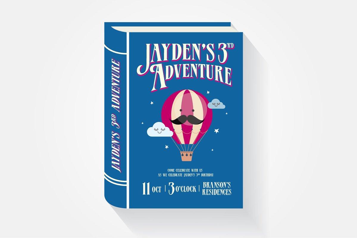 Storybook Birthday Invitation Card