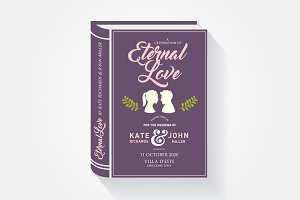 storybook wedding invitation card