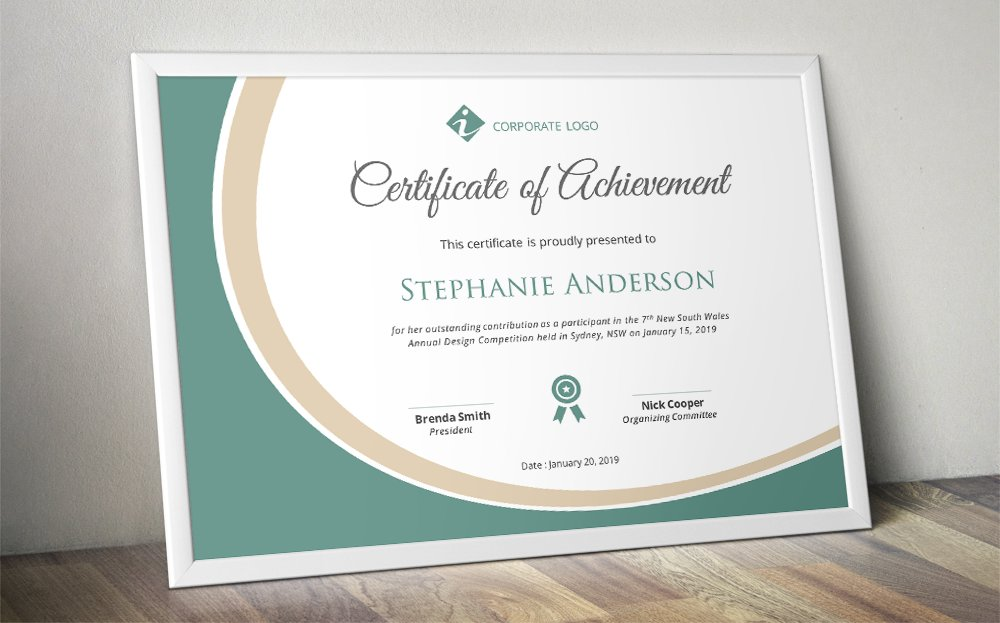 elegant certificate template docx stationery templates