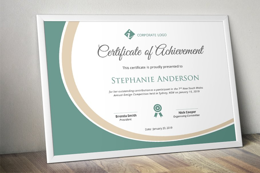 Certificate Template | Elegant Certificate Template Docx Stationery Templates