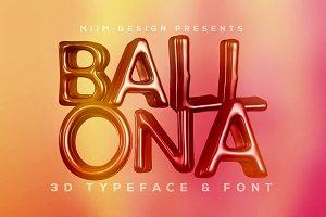 Ballona - 3D Lettering & Font