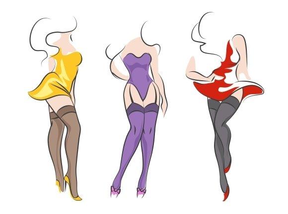 Pin-up Women In Stockings