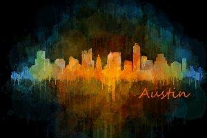 Austin Texas, Cityscape skyline V4