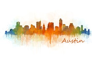 Austin Texas, Cityscape skyline V3