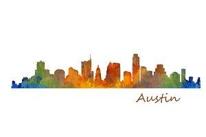 Austin Texas, Cityscape skyline V1
