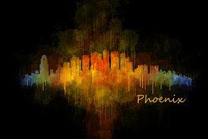 Phoenix Arizona Cityscape Skyline v4