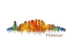 Phoenix Arizona Cityscape Skyline v2