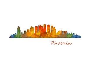 Phoenix Arizona Cityscape Skyline v1