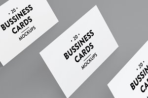20 Business Cards Mockups