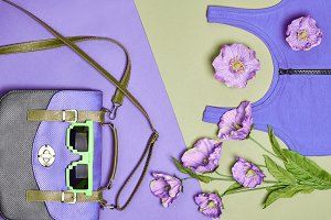 Overhead outfit hipster essentials set, flowers