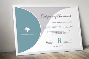 Curved certificate template (docx)